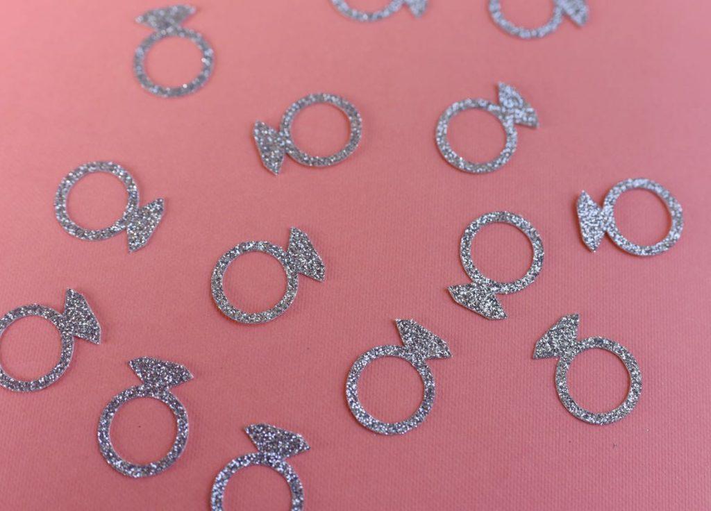 DIY bridal bachelorette confetti tutorial with Cricut Maker