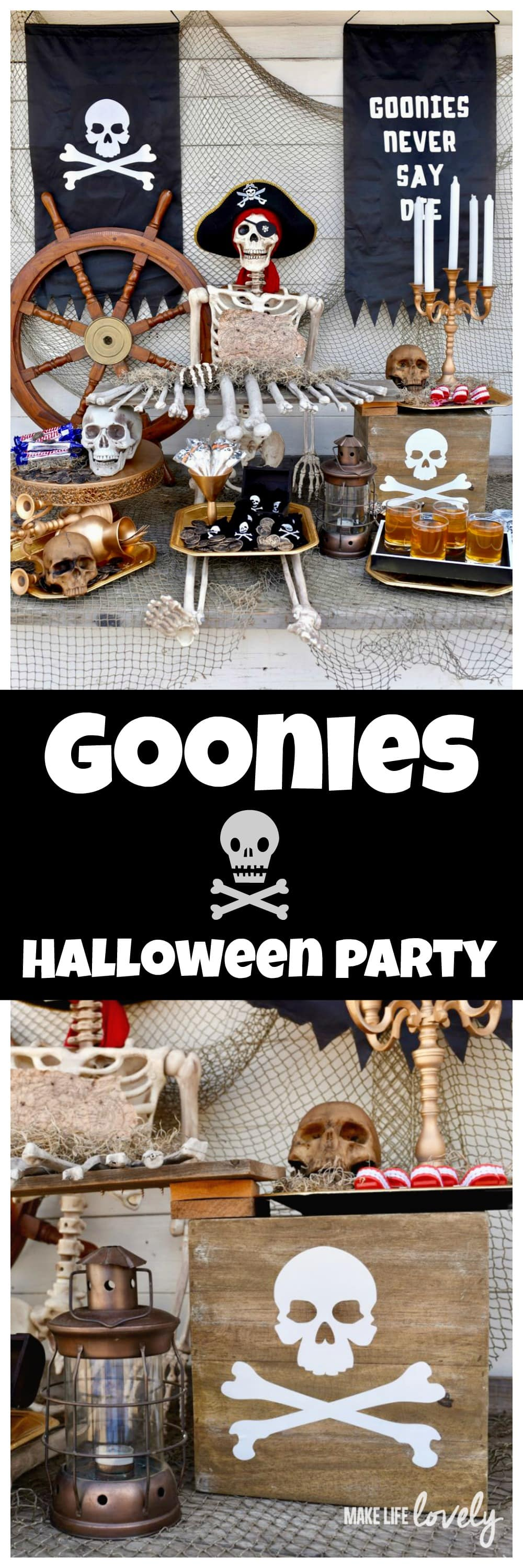 Goonies Halloween Party and Cricut Maker + Oriental Trading