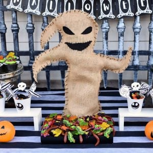 Oogie Boogie Bug Platter for a Nightmare Before Christmas Party