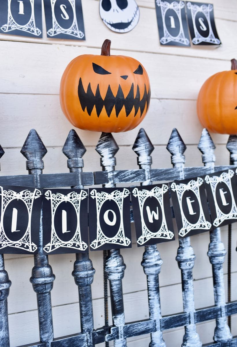 Nightmare Before Christmas Party Decorations Tutorial | Make Life Lovely