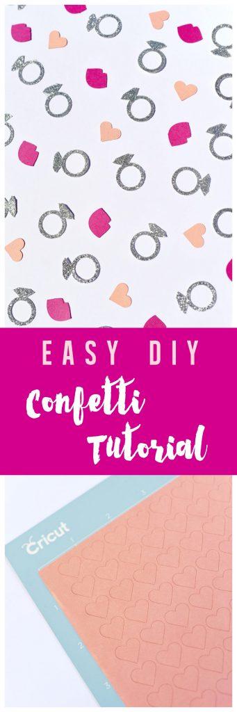 Party confetti tutorial with Cricut Explore Maker machine