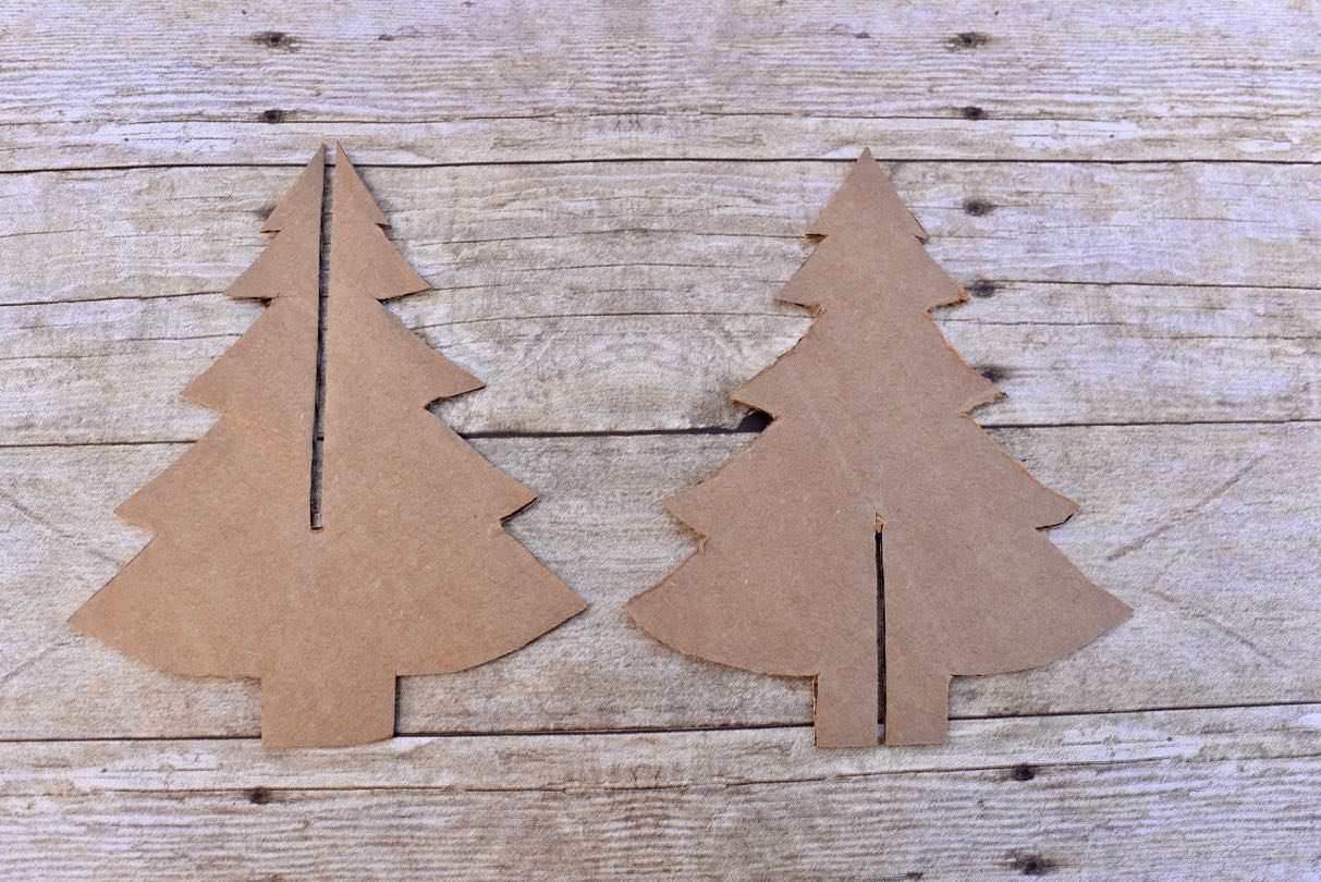 Cardboard Christmas Tree Decoration Make Life Lovely