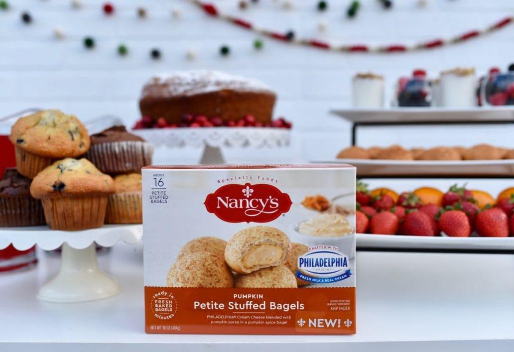 Holiday brunch ideas with Nancy's Pumpkin Petite Stuffed Bagels