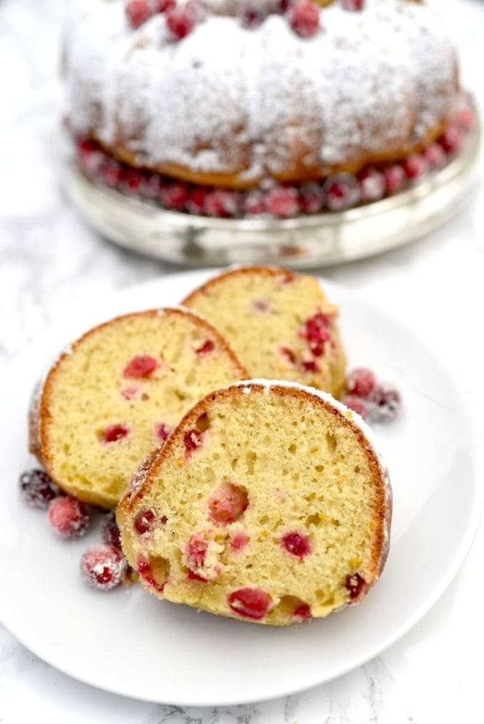 Cranberry orange cake that looks and tastes amazing!  Get the recipe for this delicious holiday dessert your guests will love.
