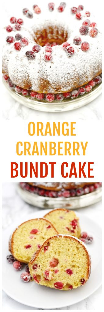 Make a festive cranberry orange bundt cake for the holidays!  This holiday bundt cake is fresh, bright, and absolutely delicious.