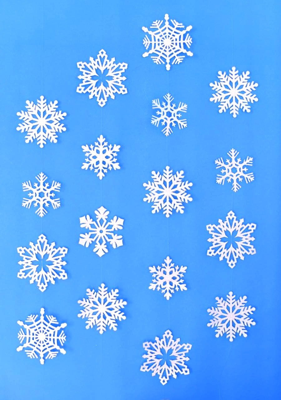 Snowflake Hanging Decorations Tutorial Make These Beautiful Glitter Snowflakes For An Inexpensive Holiday Decoration