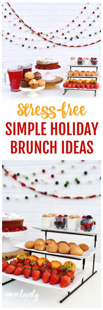 Stress-free simple holiday brunch ideas. Celebrate the season with a delicious Christmas brunch!