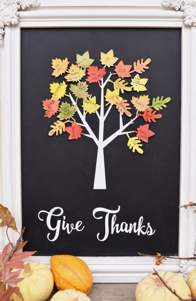 Thankful tree craft for Thanksgiving