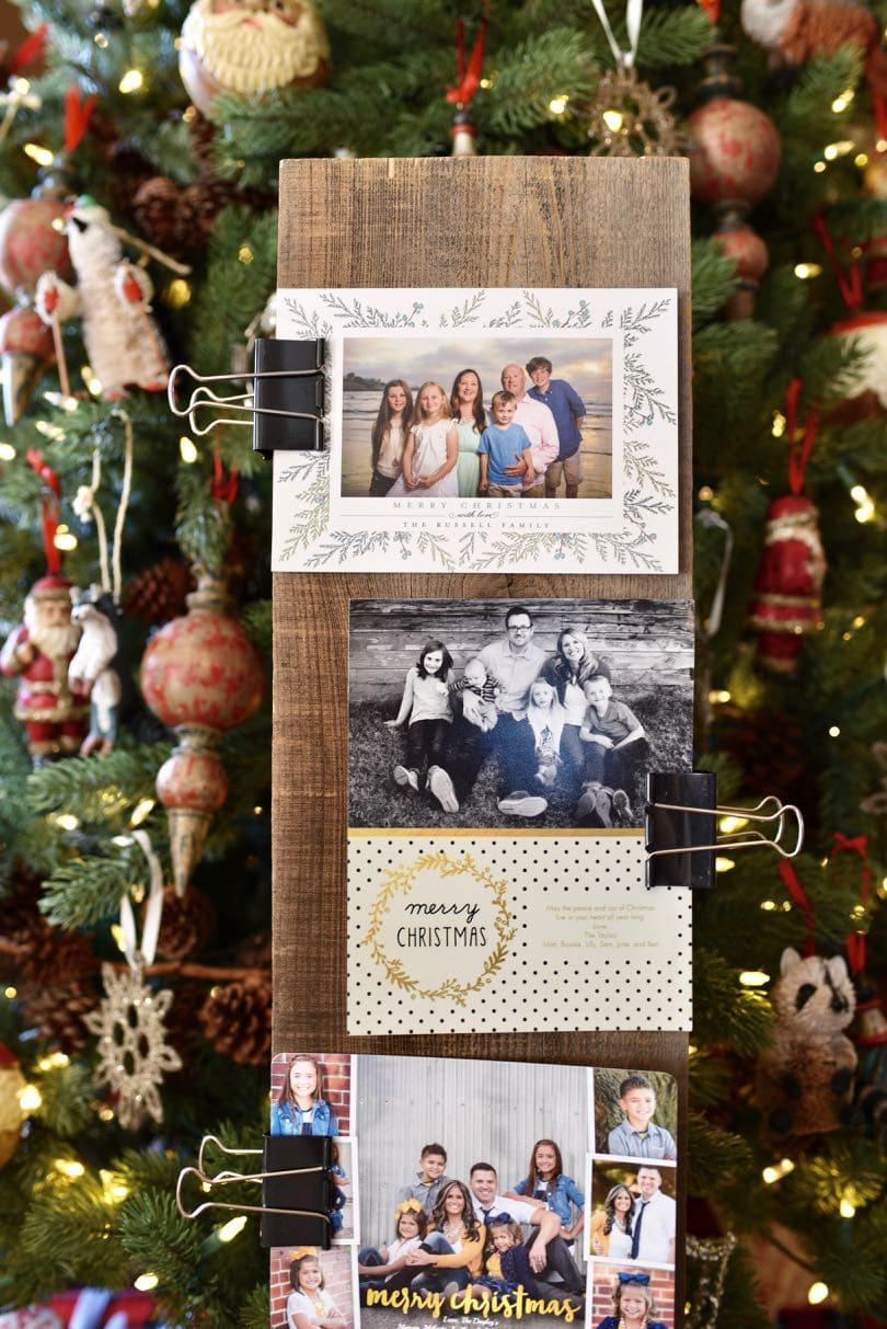 5 Minute DIY Christmas Card Holder - Make Life Lovely