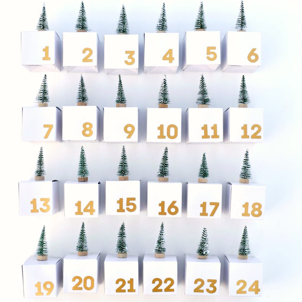 Advent calendar boxes diy