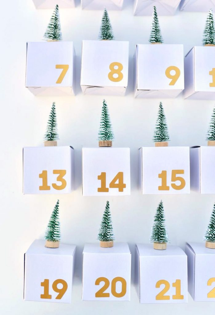 Advent calendar boxes for Christmas