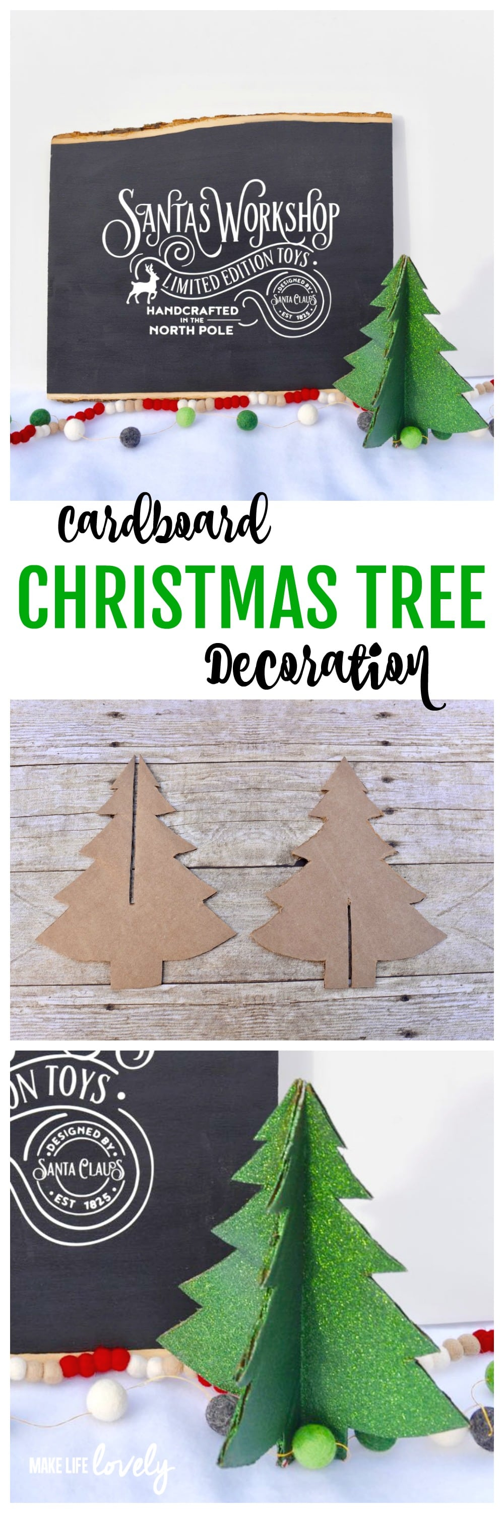 Cardboard Christmas Tree Decoration Make This Darling From A Box Its