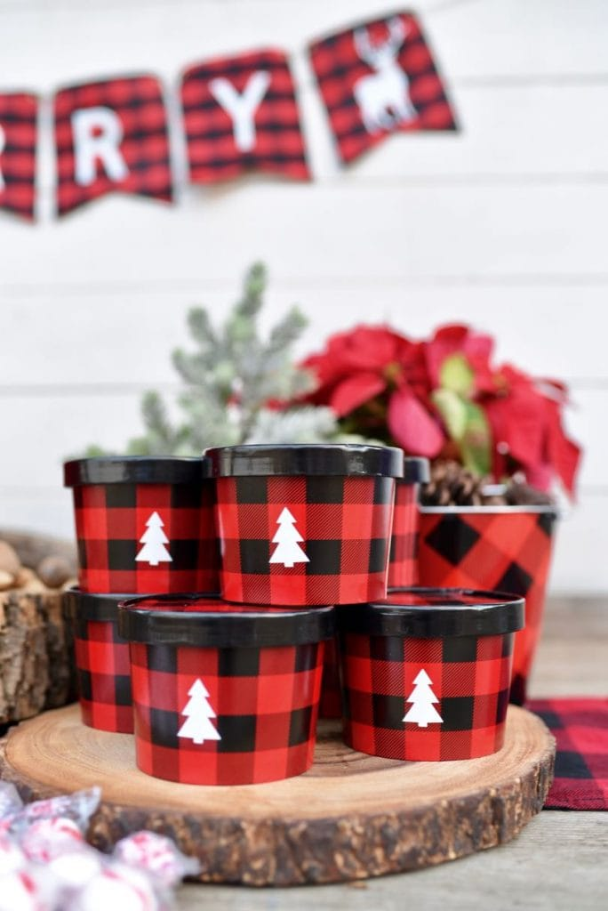 Christmas buffalo plaid party food