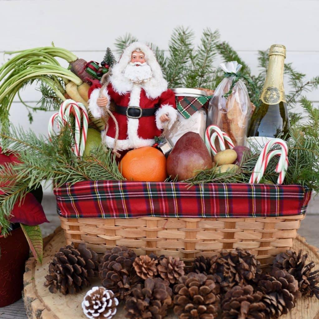 Christmas gift baskets square