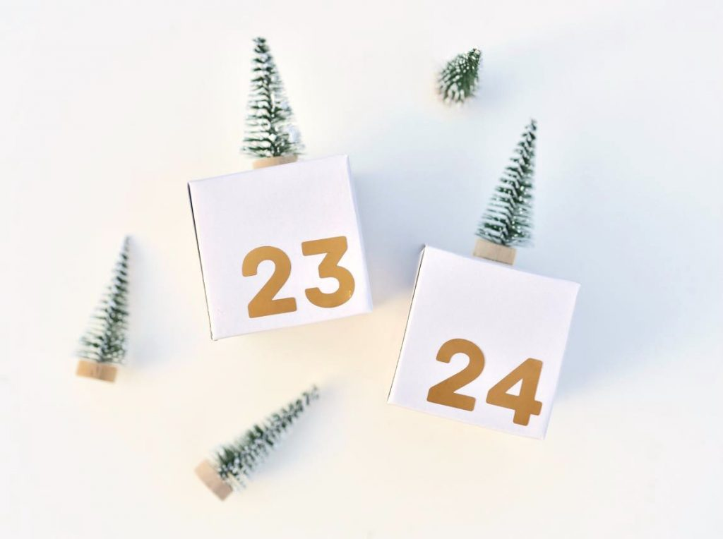 DIY advent calendar boxes