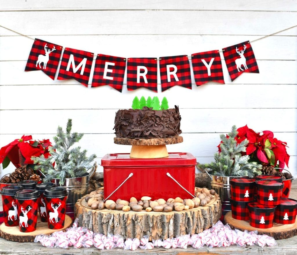 Rustic Christmas buffalo plaid party