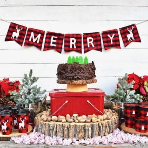 Rustic Christmas Buffalo Plaid Party with Cricut
