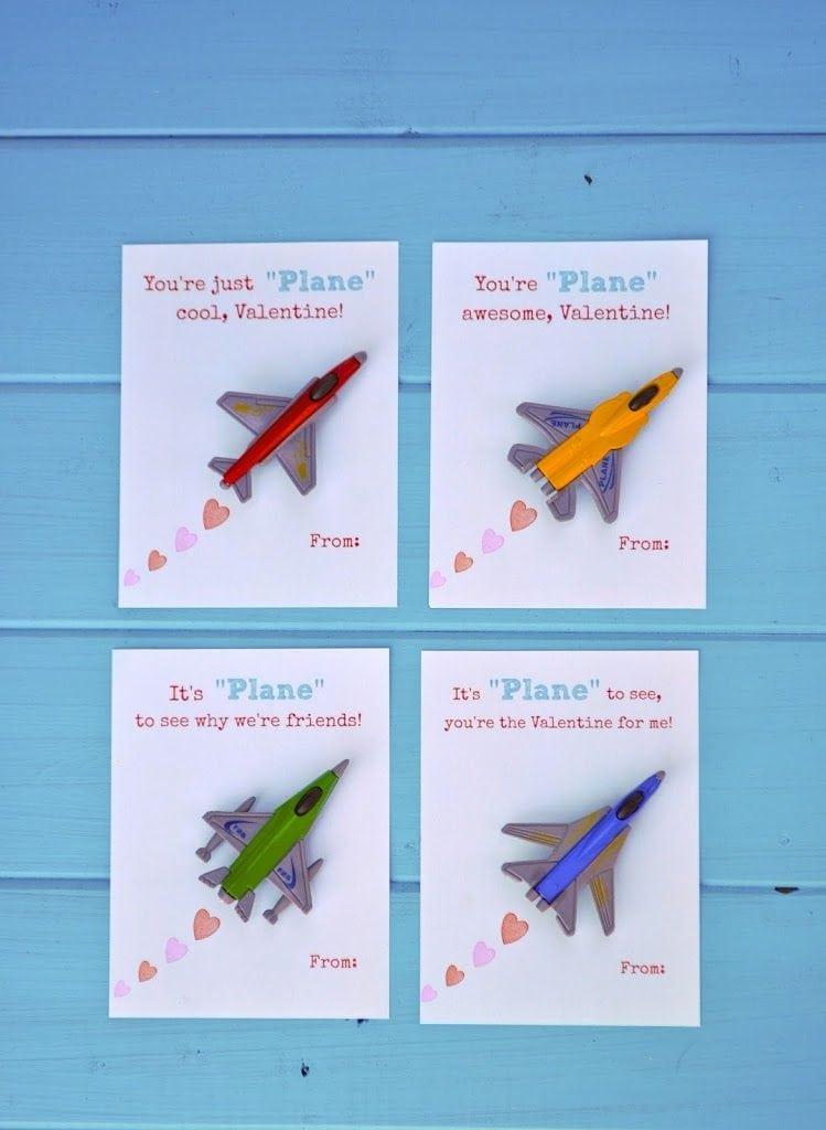 Free printable airplane valentines