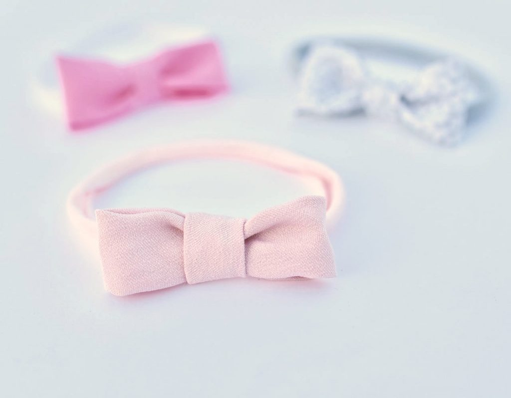 Newborn no sew hair bow headbands