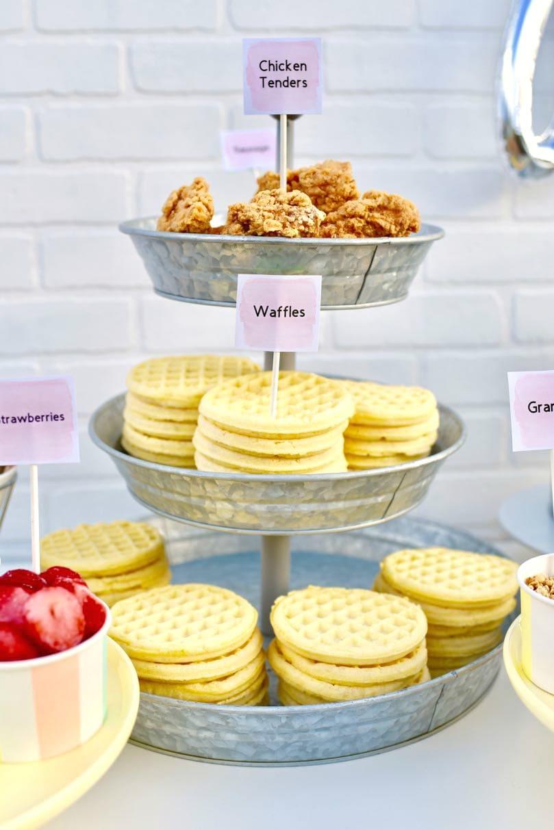 Waffle Bar Party + Free Waffle Bar Printables - Make Life ...