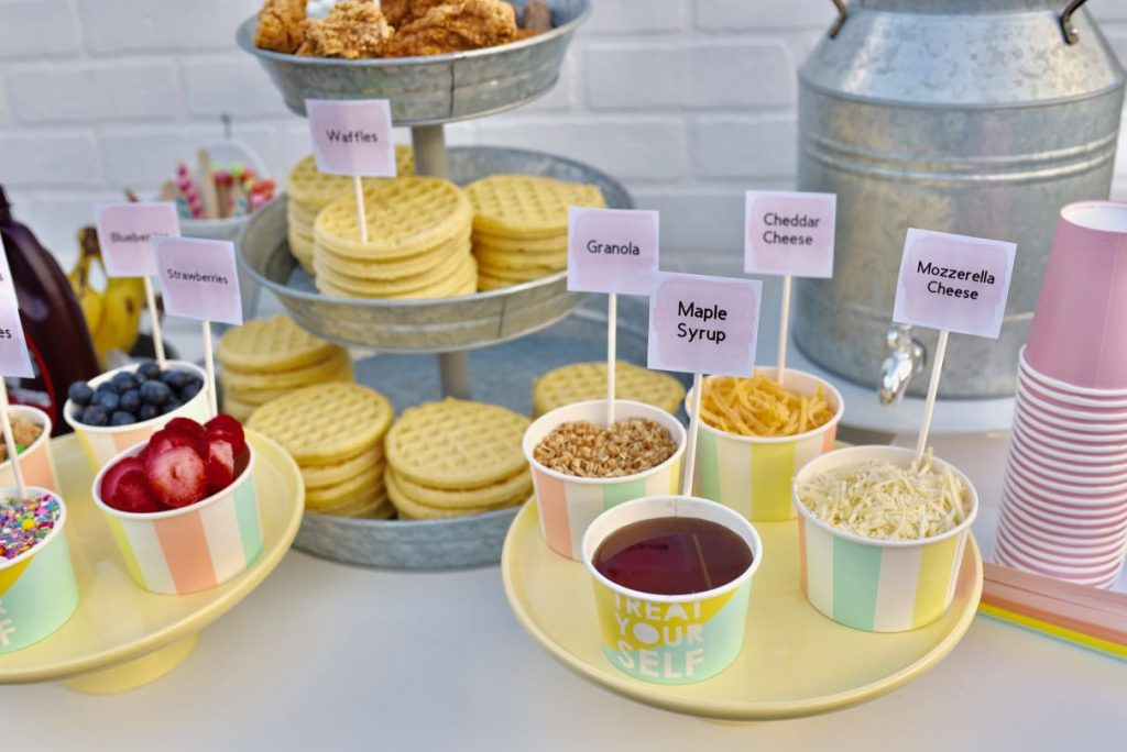 Waffle bar topping ideas