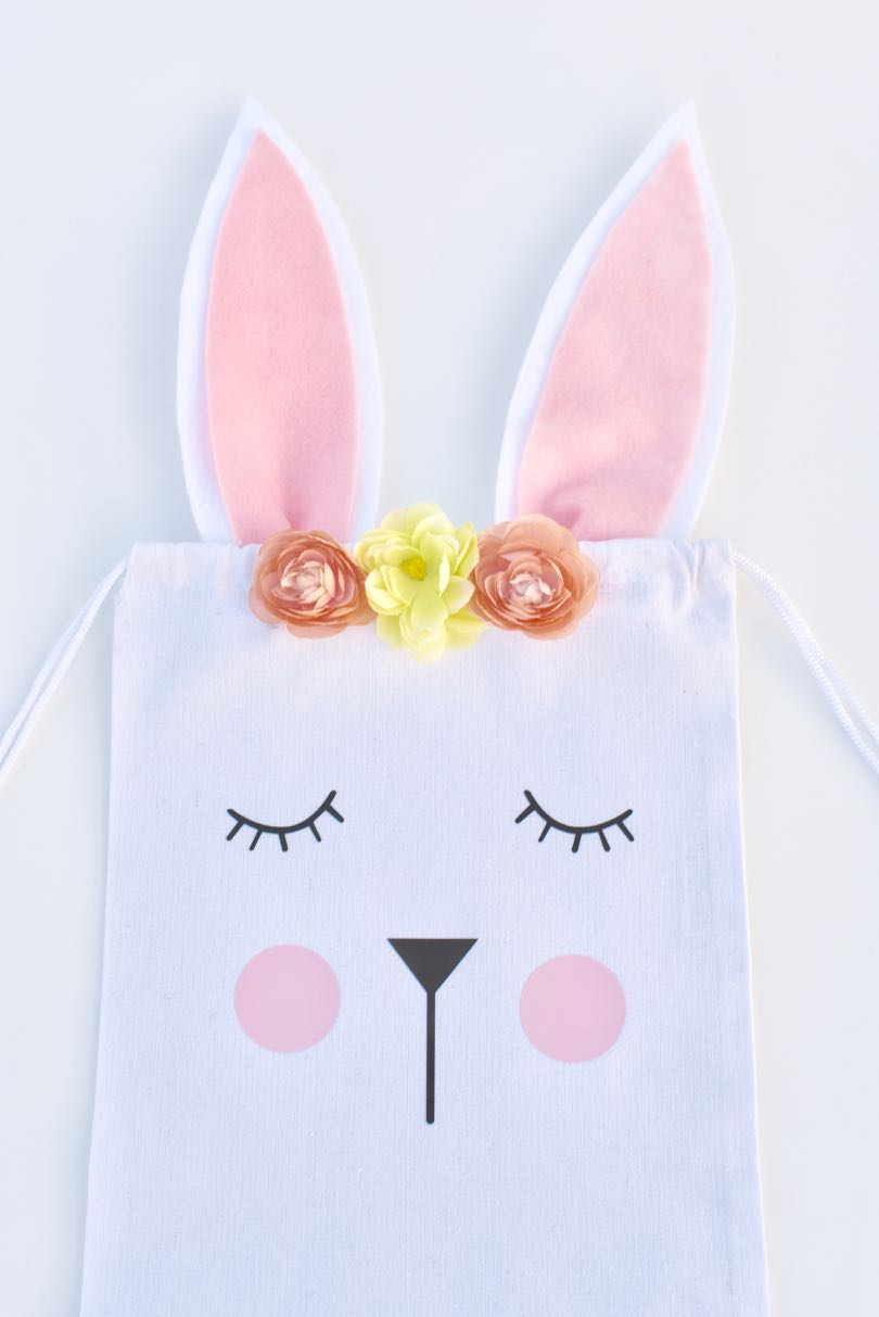 easter bunny bag for easter egg hunts party favors and more