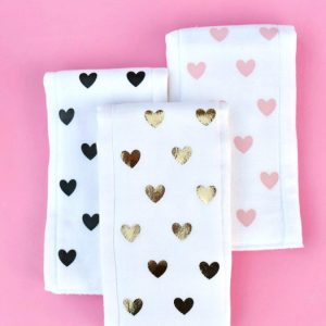 DIY Burp Cloths with Heat Transfer Vinyl + Cricut