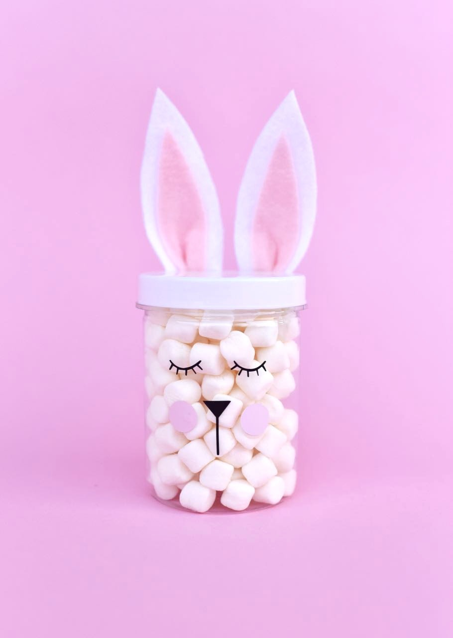 Easter bunny jars in just a few minutes make life lovely simple easter bunny jars for easter gifts easter decorations and more get the negle Gallery