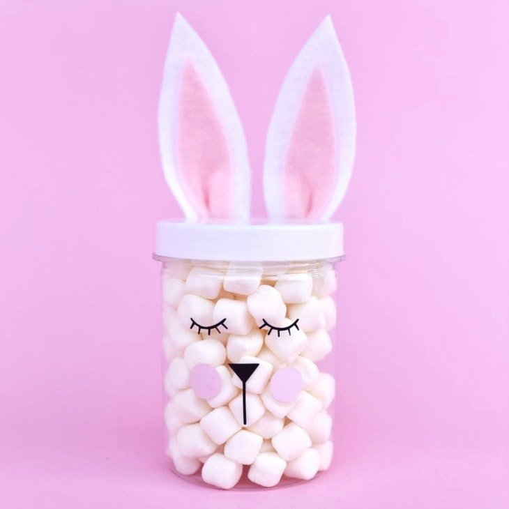 Simple Easter bunny jars