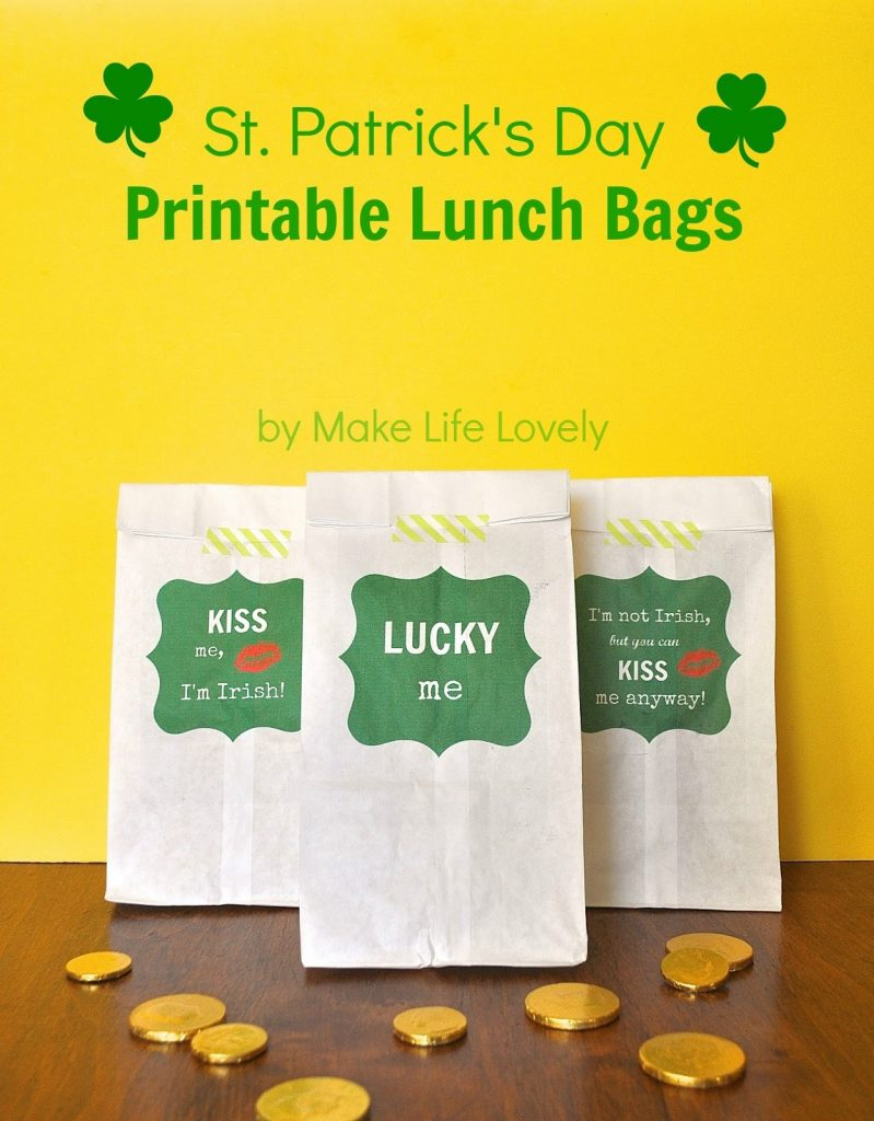 Free St. Patrick's Day Treat Bag Printables