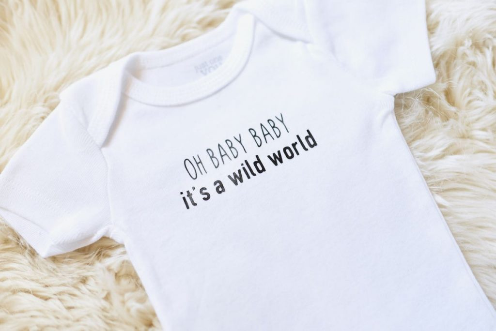 Cricut iron on onesie tutorial