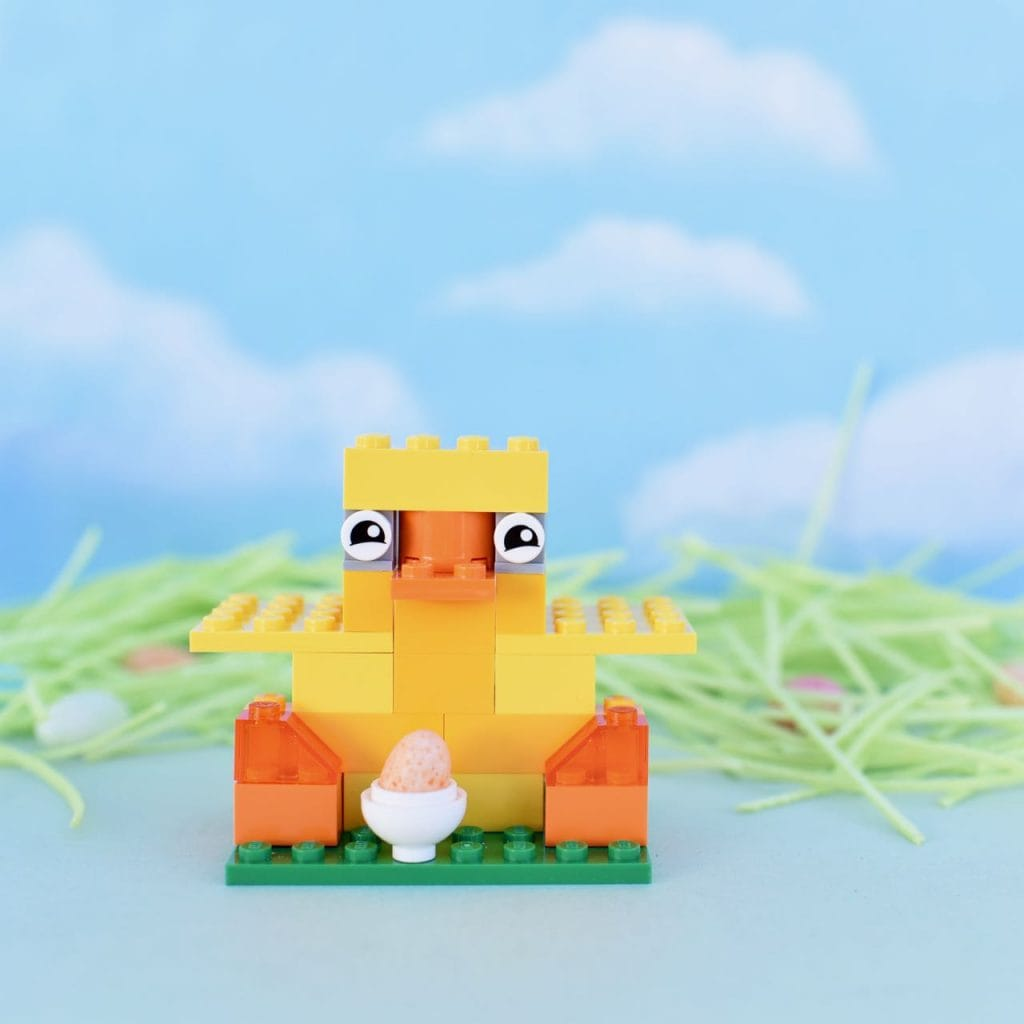 DIY LEGO chick for Easter