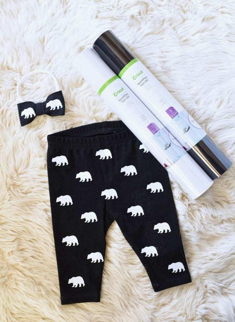 DIY baby leggings with Cricut SportFlex Iron On