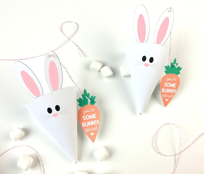 photo about Easter Bunny Printable named No cost Easter Bunny Handle Cones Printables + Carrot Prefer Tags