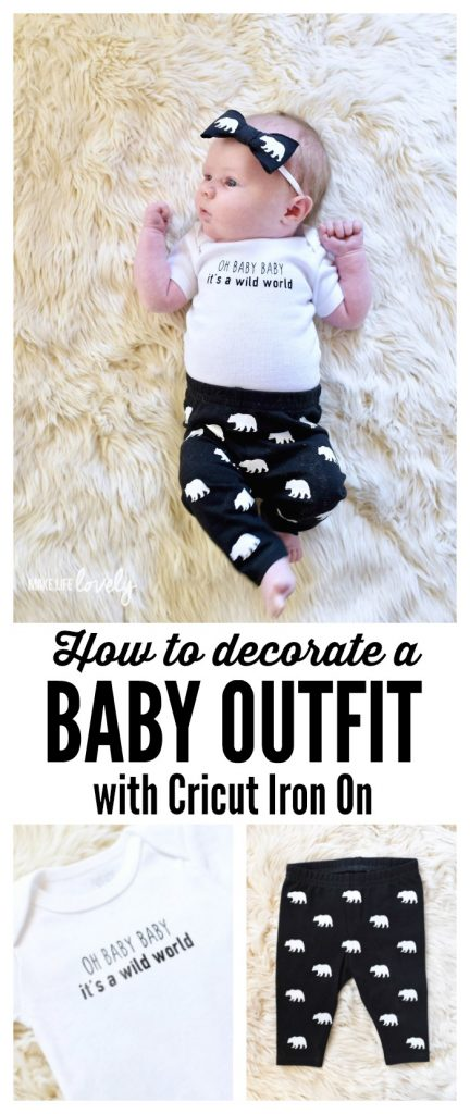 How to decorate a baby outfit with Cricut iron on