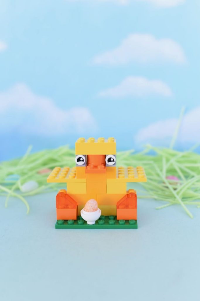 LEGO Easter chick instructions tutorial