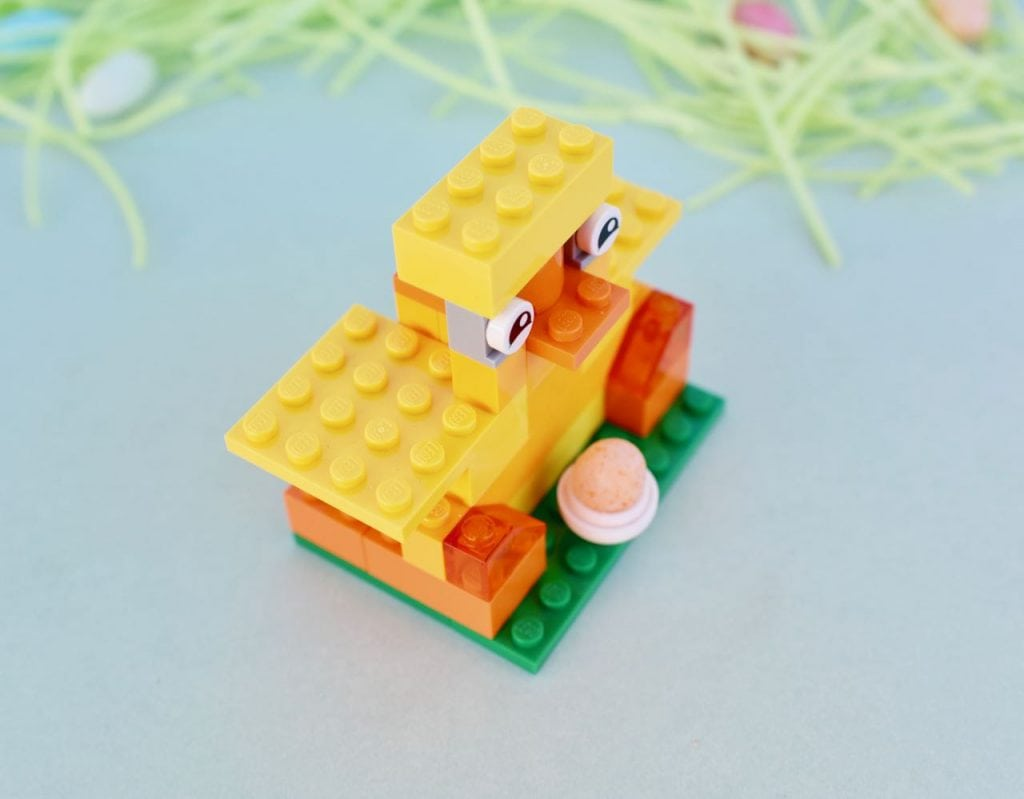 LEGO chick with egg instructions for Easter