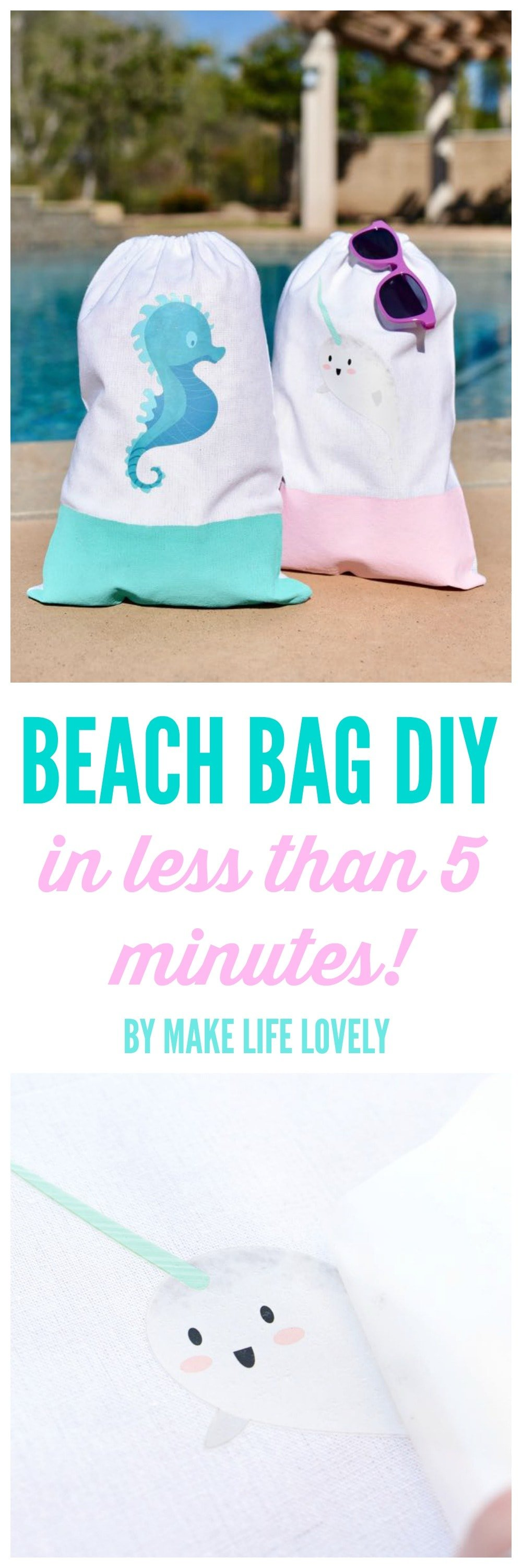 Beach Bag DIY With Cricut In Under 5 Minutes... Really