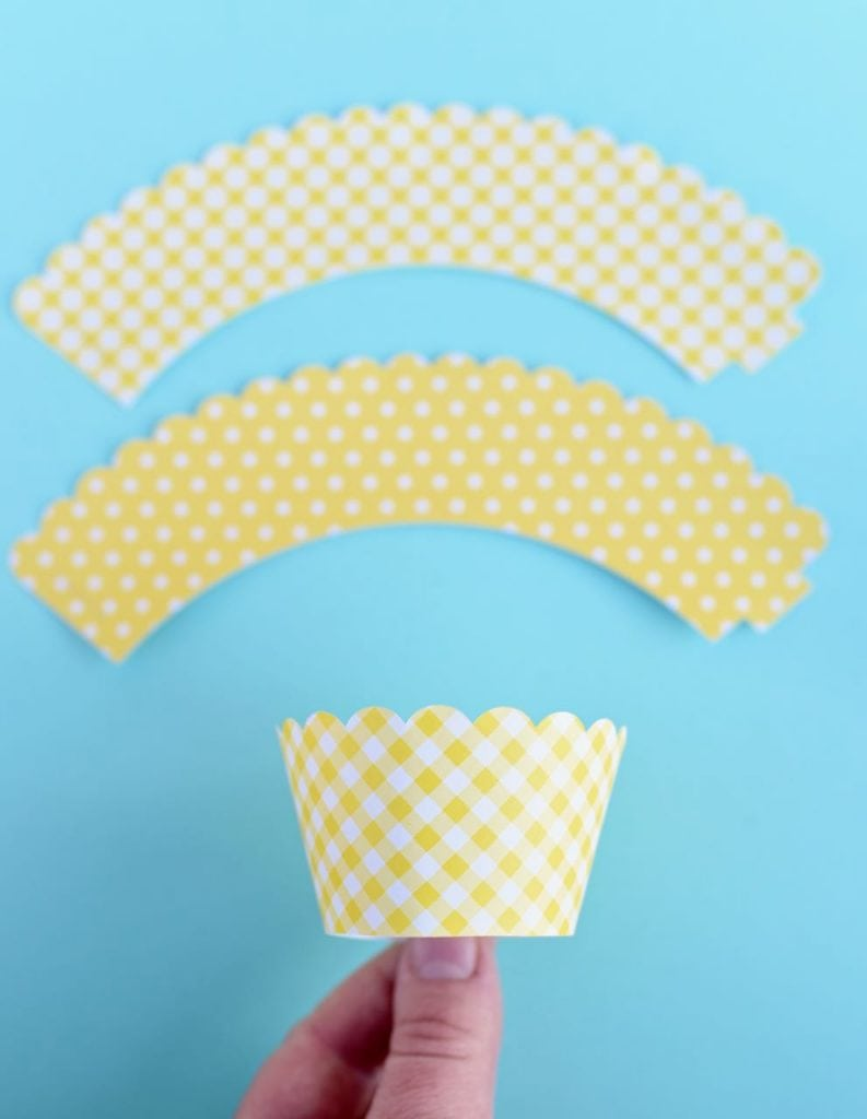DIY cupcake wrappers with Martha Stewart Cricut machine