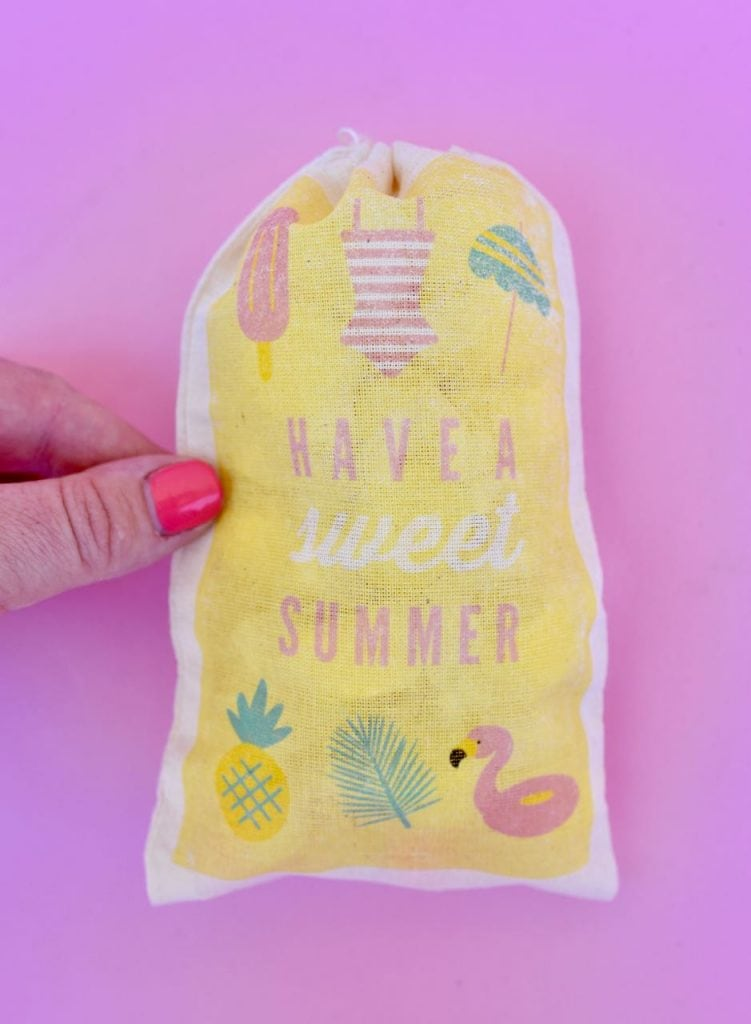 DIY party favor bags for a summer party