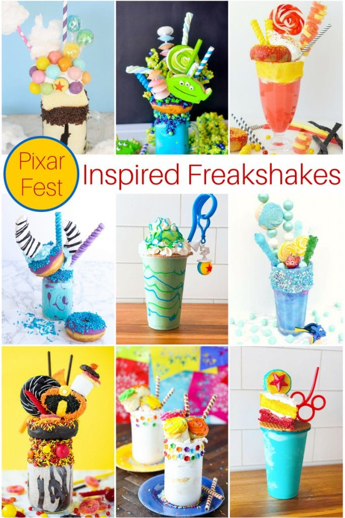 Disney Pixar Freak Shake Recipes Collage