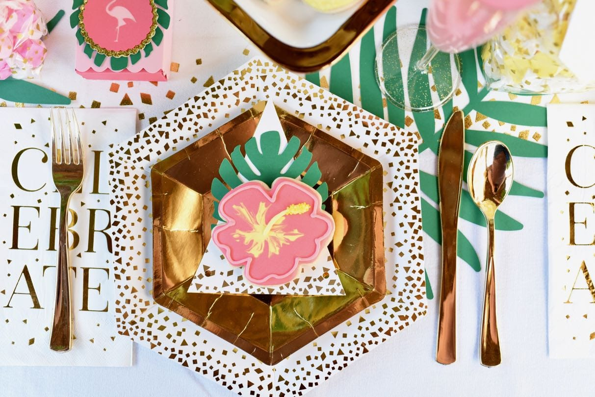 Vibrant Tropical Baby Shower With Cricut