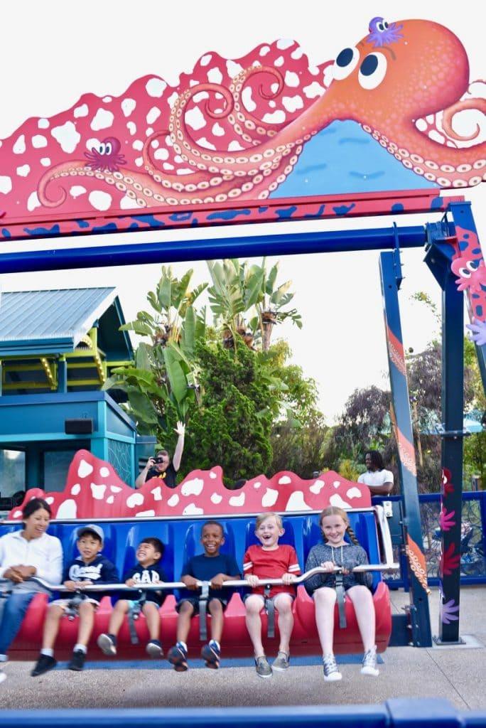 SeaWorld rides for kids
