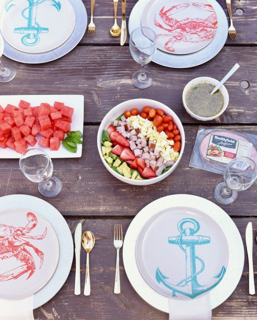 Simple summer cobb salad recipe that's lightened up for summer