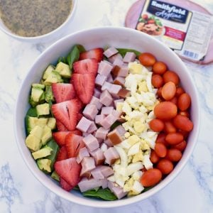 Summer Cobb Salad with Lemon Poppy Seed Vinaigrette