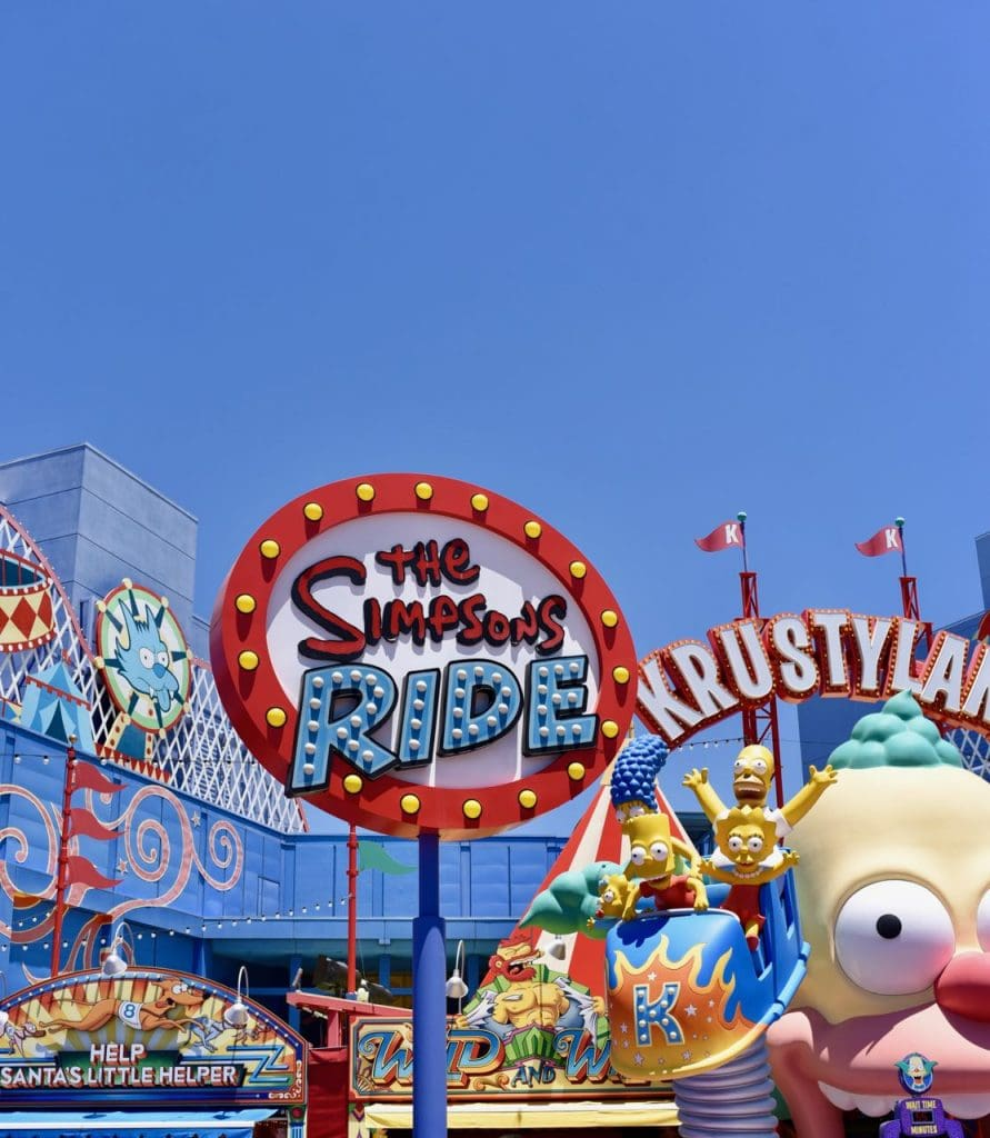 The Simpsons Ride and Krustyland in Top 10 things to do at Universal Studios Hollywood