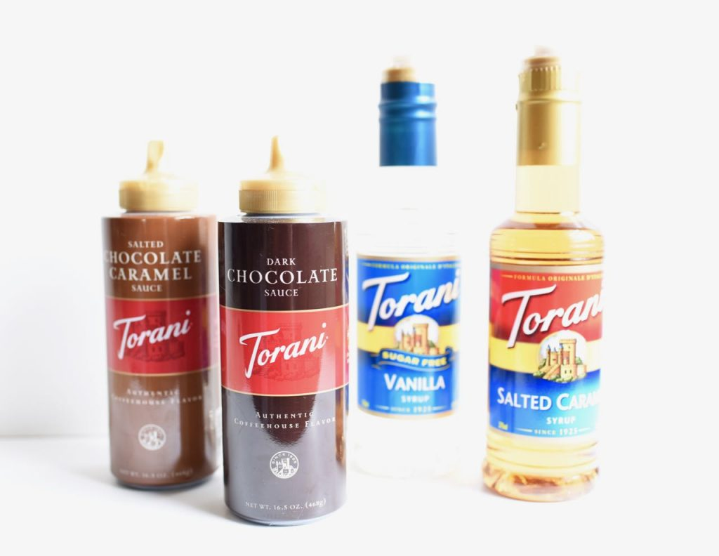 Torani flavors for salted caramel chocolate frappe recipe