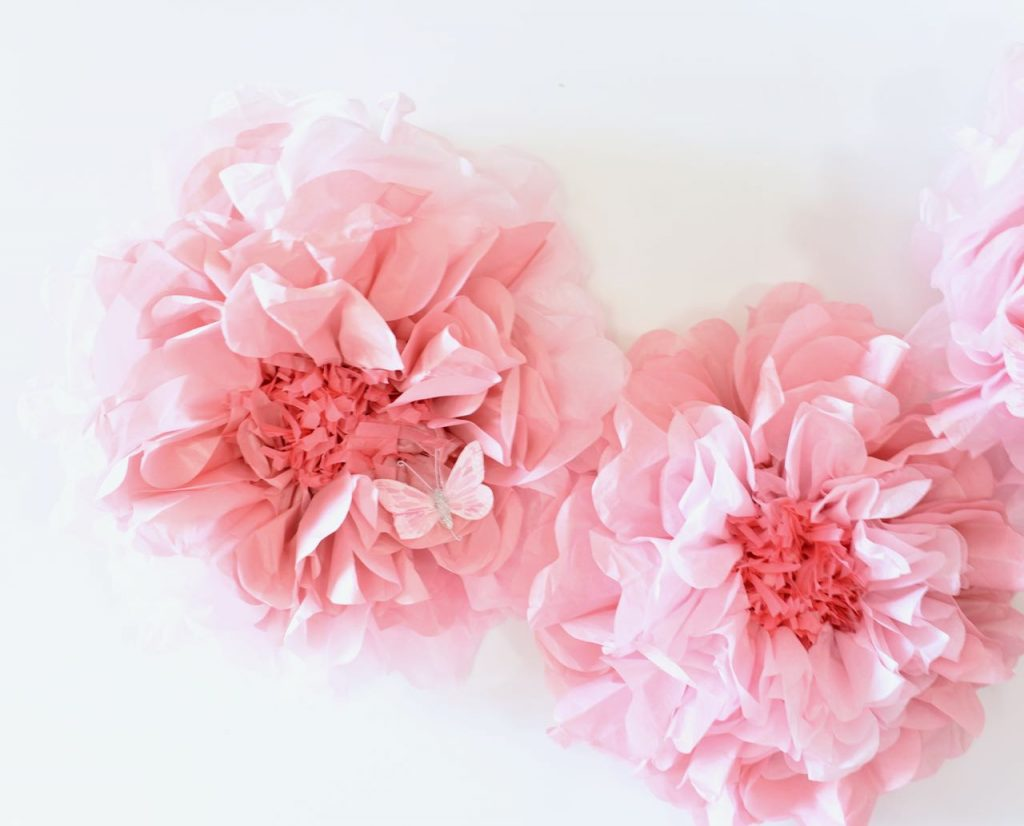 Floral baby shower decorations