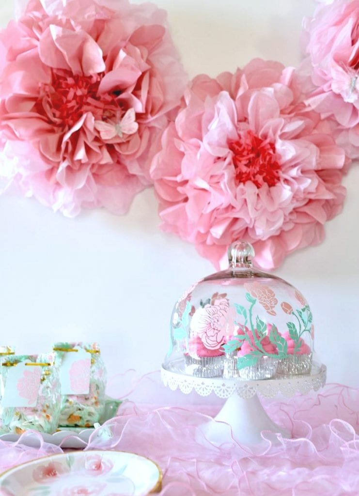 Girl baby shower ideas free cut files make life lovely - Baby girl baby shower decorations ...