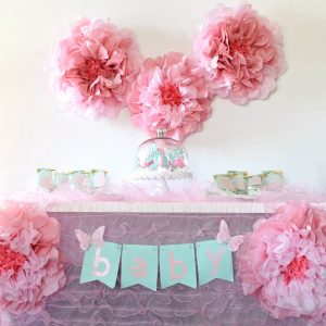Girl Baby Shower Ideas with Cricut